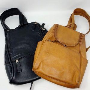 VTG Tobacco Tan Leather Backpack